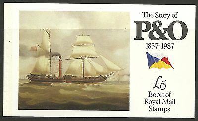 "Great Britain £5 Booklet ""the Story Of P & O""      Sg Dx8 - 1M"