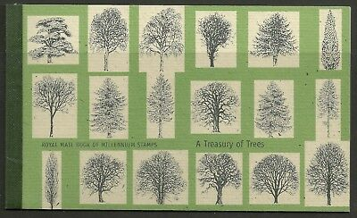 "Great Britain £7 Booklet "" Treasury Of Trees "" Sg Dx26"