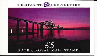 "Great Britain £5 Booklet "" The Scots Connection "" Sg Dx10 - 1M"