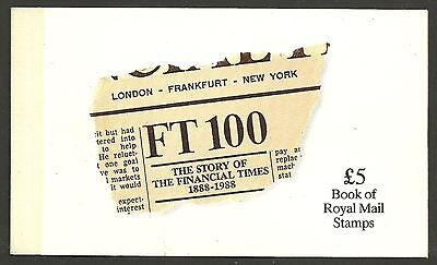 "Great Britain £5 Booklet ""the Story Of The Financial Times""       Sg Dx9 - 1M"