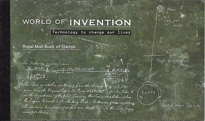 "Great Britain £7.72 Booklet "" World Of Invention "" Sg Dx38"