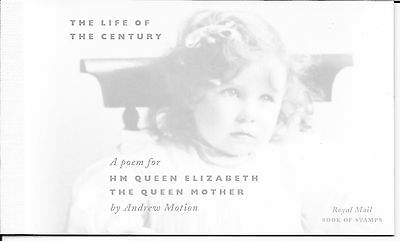 "Great Britain £7.03 Booklet "" Queen Elizabeth Queen Mother's 100 Birth "" Sg Dx25"