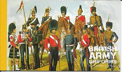 "Great Britain £7.66 Booklet "" British Army Uniforms "" Sg Dx40"