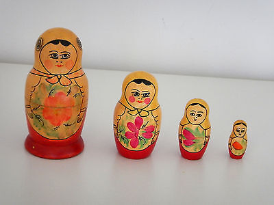 Vintage Russian Nesting Dolls x 2 Sets