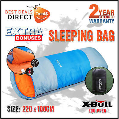 NEW Camping Sleeping Bag Outdoor Single Thermal Hiking Winter Tent King 2.2 x 1M