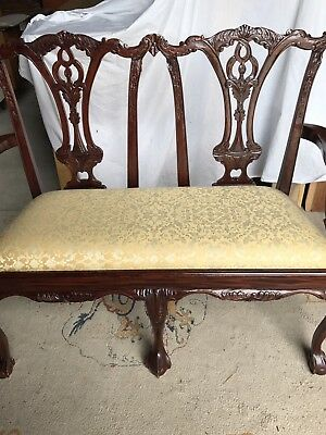 Antique Mahogany Seat