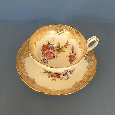 Hammersley & Co Longton hand painted cup & saucer c 1912-39