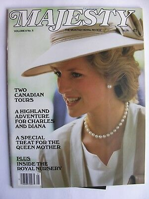 MAJESTY MAGAZINE Vol 6 No 5 Sept 1985 Queen Mother Concorde Mark Phillips Andrew