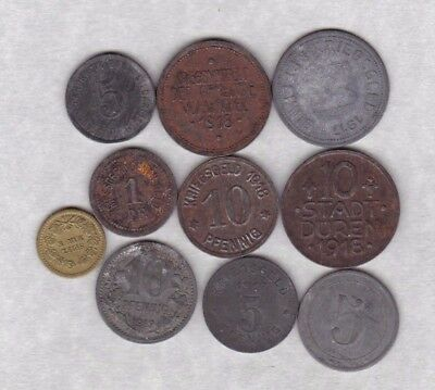 10 Various German State Coins Dated 1917 To 1918 In Fine Or Better Condition