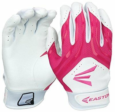 Easton Hyperskin HF3 Fastpitch Batting Gloves Women´s White/Pink pair