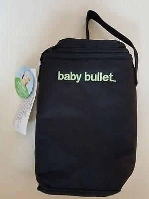 Baby Bullet Thermal Black Tiny Tote Insulated Zippered Bottle Bag New