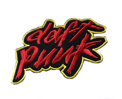 XL Daft Punk Patch Embroidered Iron/Sew on Badge Souvenir Homework Logo Jacket