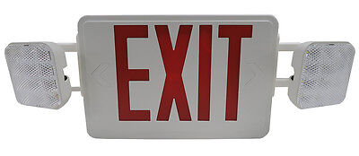 LED Exit Sign w/emergency with  LED lights   US SELLER!!!