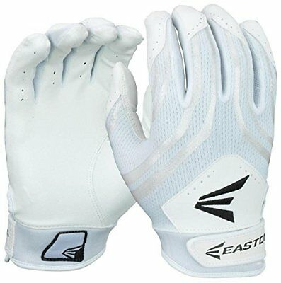 Easton Hyperskin HF3 Fastpitch Batting Gloves Youth White/White pair
