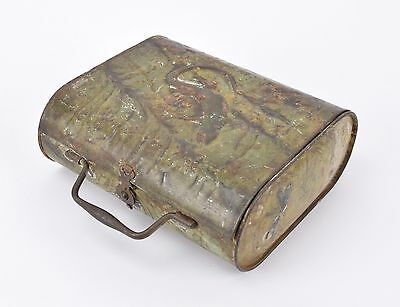 Antique Tin Vasculum Botanist Botanical Box Specimen Collection Tin.