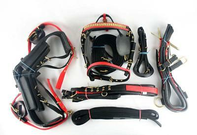Quality Webbing Driving Harness Cob Size Red/Black Silver Fittings