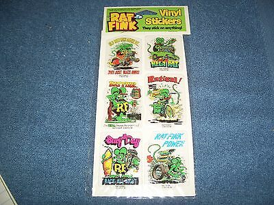 Vintage Rat Fink Big Daddy Roth Vinyl Stickers - Green Set by Gordy
