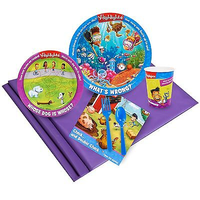 Highlights - Birthday Party Supply Kit for 8 w/ Table Ware