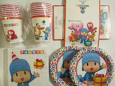 POCOYO -  Birthday Party Supplies Set Pack w/ Invitations
