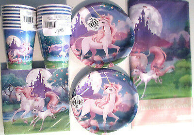 UNICORN FANTASY - Birthday Party Supply Set Pack Kit for 16