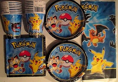 POKEMON Pikachu & Friends - Birthday Party Supply Pack Kit w/ Balloons