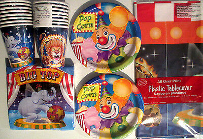 BIG TOP CIRCUS - Birthday Party Supplies Set Pack Kit 16