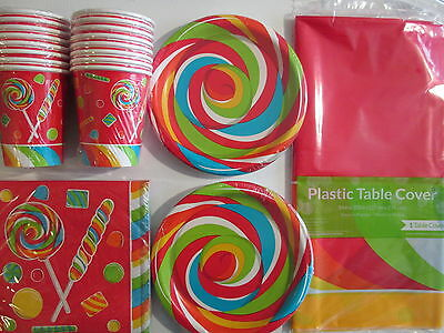 SUGAR BUZZ CANDY - Birthday Party Supplies Set Pack Kit 16