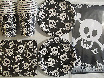 SKULLS / Happy Skulls - Birthday Party Supply Kit Pack Set 16