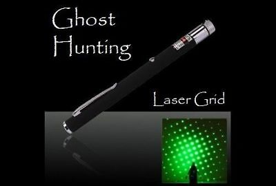 Ghost Hunting Tool New Green Laser Grid Pen Pointer Paranormal Marker  Usa Ship