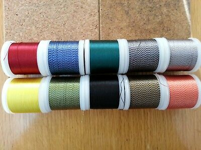 25mtrs.  RAYON  Whipping Thread..various colours.