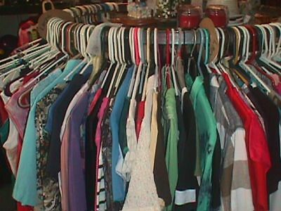 WOMENs THRIFT Store WHOLESALE Resale TOPS Blouses 50 Pcs Used Clothing S to 3X