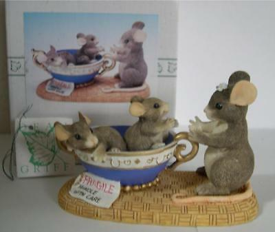 Charming Tails * Fragile Handle With Care * Limited * Mice