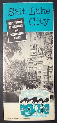 Vintage 1963 Salt Lake City Travel Brochure ~ Ephemera