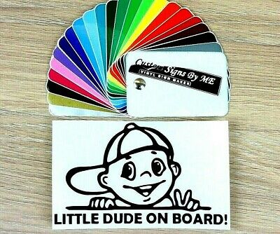 Little Dude on Board Child Baby Sticker Vinyl Decal Adhesive Window Bumper BLC#2