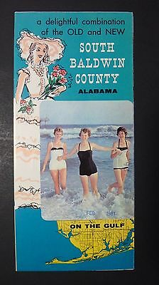 Vintage 1961 South Baldwin County , Alabama Travel Brochure ~ Ephemera