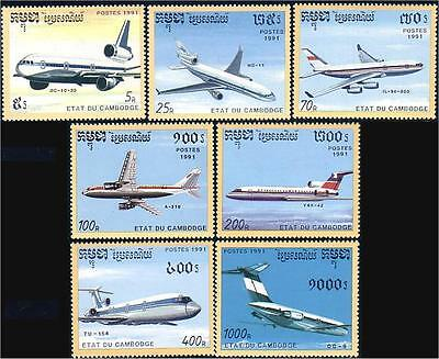Cambodia Commercial Airplanes MNH **  (71)