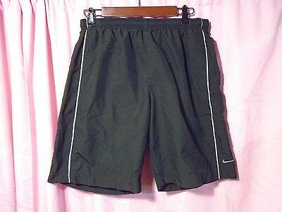 "NIKE DRI-FIT Men Black 9.5"" Athletic Running Shorts Size Medium"