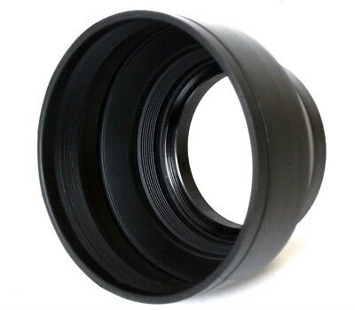 Phot-R 67mm Professional 3 Stage Collapsible Universal Rubber Multi-Lens Hood