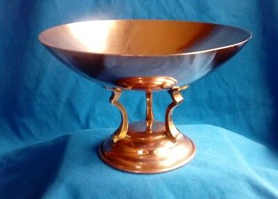 Vintage Linton copper/brass pedestal bowl art deco