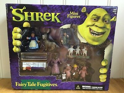 Collectable Shrek Fairy Tale Fugitives Mini Figure Play Set McFarlane Boxed Rare