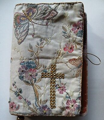 Custom Made Bible Cover, Ministry, Gift, with Gold Embroidery Please Advise Size