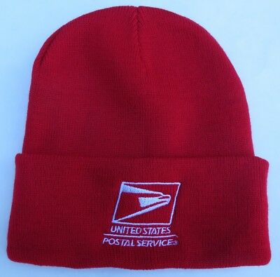 NALC USPS Letter Carrier Red Christmas Knit Cap