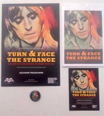 Mick Ronson Turn and Face the Strange Programme, Greetings Card & Button Badge
