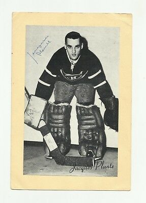 VERY RARE Jacques Plante SIGNED Montreal Canadiens Vintage Photo Habs ICON