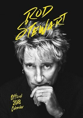 2018 A3 Licensed Rod Stewart Official Wall Calender