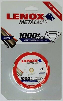 "LENOX 1972918 3"" Metalmax Diamond Steel-Cutting Cut-off Wheel"
