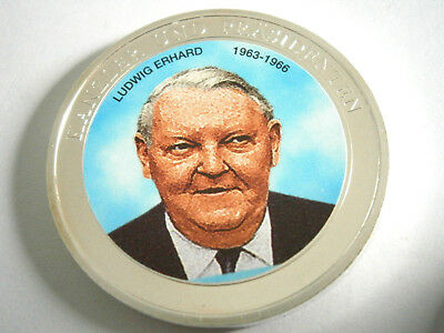 Ludwig Erhard, Münze oder Medaille in Farbe silber, Nachlass, Dachbodenfund