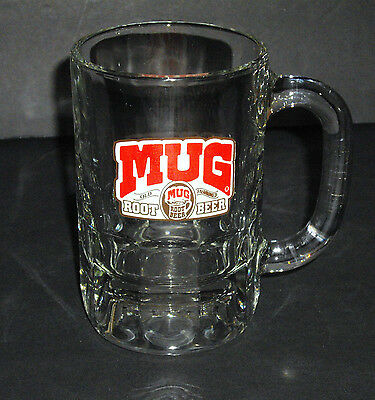 Older Old Fashioned Thick Glass Root Beer Mug Made in the USA