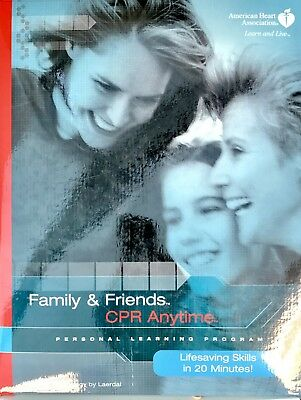 Family and Friends CPR Anytime Complete Training Kit With Mini Anne Manikin NEW!