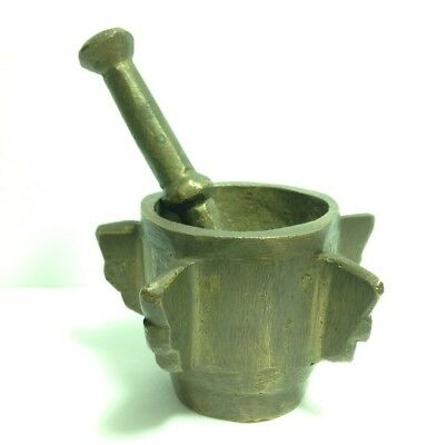 Mortar  And Pestle  ( 1930 -Old French Mortar And Pestle )